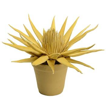 Plante artificielle jaune en pot 33 cm