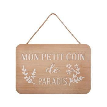 """Plaque de porte """"Mon petit coin de paradis"""""""