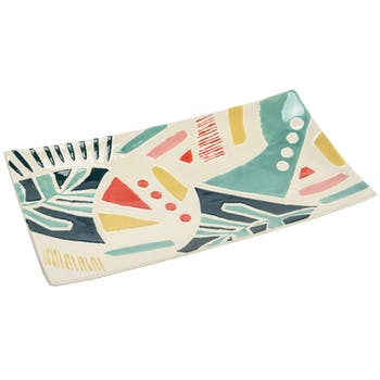 Plat rectangle multicolore