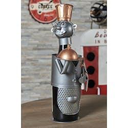 Porte-bouteille en métal serveur