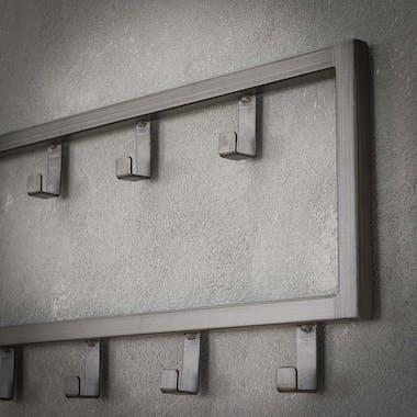 Portemanteau mural industriel métal 15 crochets