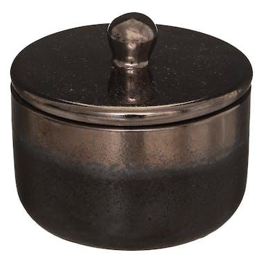 Pot en céramique noire