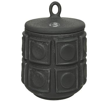 Pot style antique à couvercle 19 cm