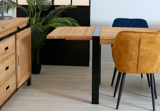Rallonge table à manger pin 50 cm LOUNDGE