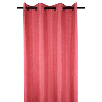 Rideau uni rouge 140x260cm à oeillets BEA