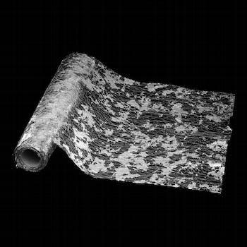 Rouleau de tissu maillage argenté