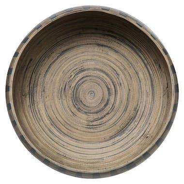 Saladier en bambou style ethnique 25 cm