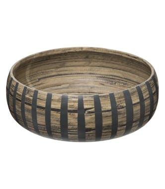 Saladier en bambou style ethnique 30 cm