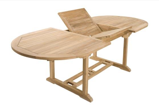 Salon de jardin Teck textile table 180cm 6 fauteuils SUMMER