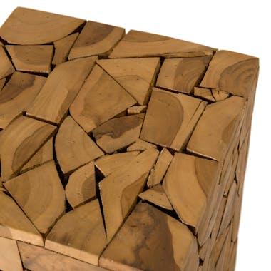 Sellette bois carrée mosaïque de teck OTTAWA