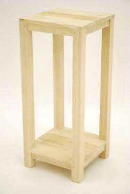 Sellette bois hévéa double plateau 30x30x70cm GALA
