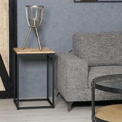 Sellette carrée 65 cm en acacia et métal MEMPHIS