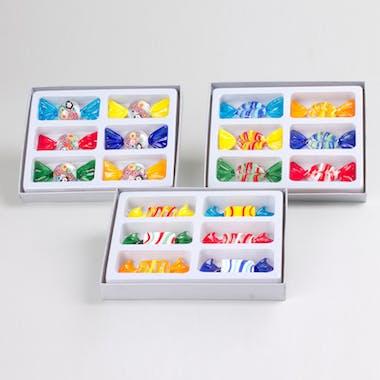 Set de 6 porte-couteaux forme bonbon rectangle