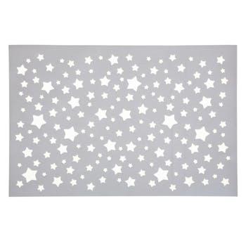 Set de table argenté étoiles ajouré