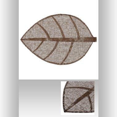 Set de table forme feuille 50 x 33 cm  Chocolat