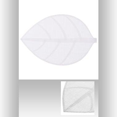 Set de table forme feuille 50 x 33 cm  Gris Ivoire
