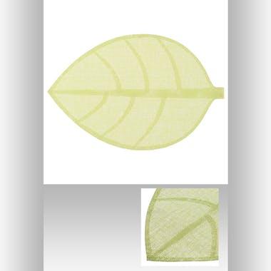 Set de table forme feuille 50 x 33 cm  Vert