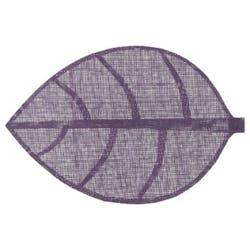 Set de table forme feuille couleur violet 50x33cm