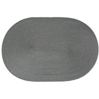 Set de Table ovale tressé anthracite