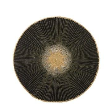 Set de Table rond noir avec effet D38cm