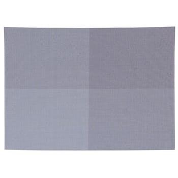 Set de table texaline rectangle 50 x 35 cm à carreaux Bleu et Gris