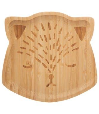 Set repas en bambou forme ours