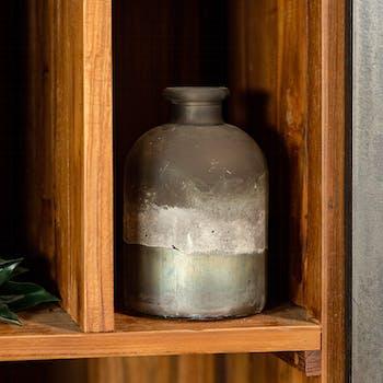 Soliflore bouteille effet marbre H 17 cm