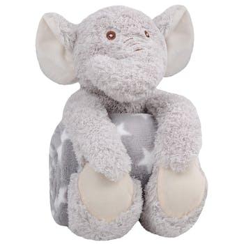 Eléphant gris avec plaid
