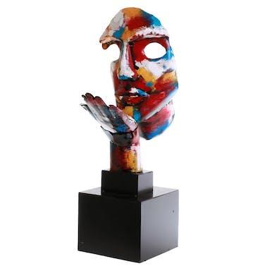 Statuette sur socle visage souffle d'espoir