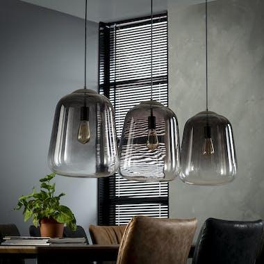 Suspension 3 lampes verre chromé GM RALF