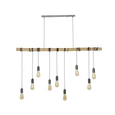 Suspension bambou 9 lampes