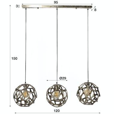 Suspension boule déco 3 sphères TRIBECA
