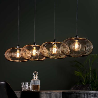 Suspension contemporaine 4 lampes style disques RALF