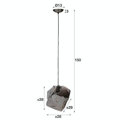 Suspension contemporaine effet glaçon finition chromée NIAGARA