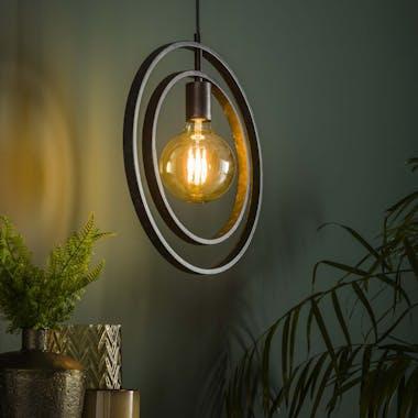 Suspension industrielle 1 lampe anneaux croisés TRIBECA