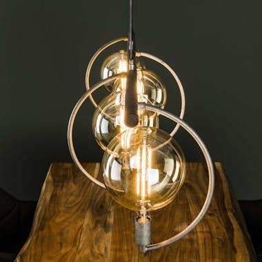 Suspension industrielle 4 lampes arcs XL TRIBECA