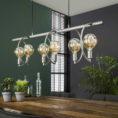 Suspension industrielle 6 lampes arcs TRIBECA