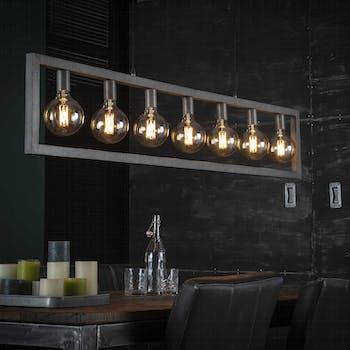 Suspension industrielle cadre 7 lampes NIAGARA