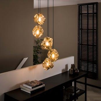Suspension moderne étagée 5 lampes NIAGARA