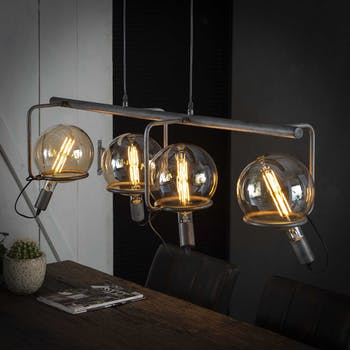Suspension vintage style baladeuse 4 lampes RALF