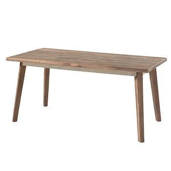 Table de repas bois recycle de bateau style exotique forme rectangle