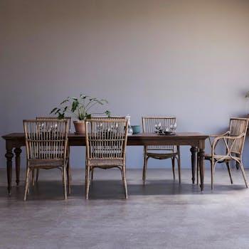 Table à manger bois de teck recyclé 200 cm CORK