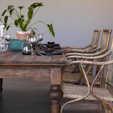 Table à manger bois de teck recyclé 220 cm CORK