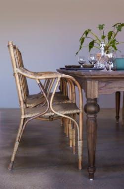 Table à manger bois de teck recyclé 240 cm CORK