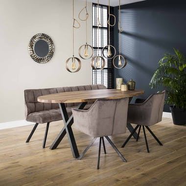 Table à manger bois forme ovale 200 cm HALIFAX