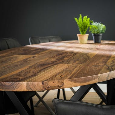 Table à manger bois forme ovale 240 cm HALIFAX