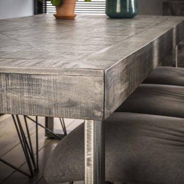 Table de repas en bois pieds metal de style contemporain