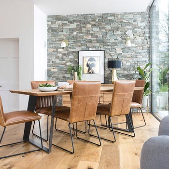 Table à manger bois métal 180 cm VOLGA