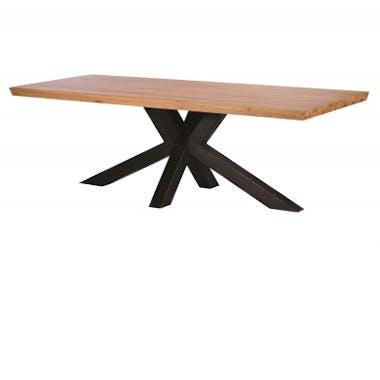 Table à manger bois métal pied croisé 240 cm VOLGA