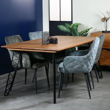 Table à manger bois recyclé pieds épingles 180 cm BARBADE